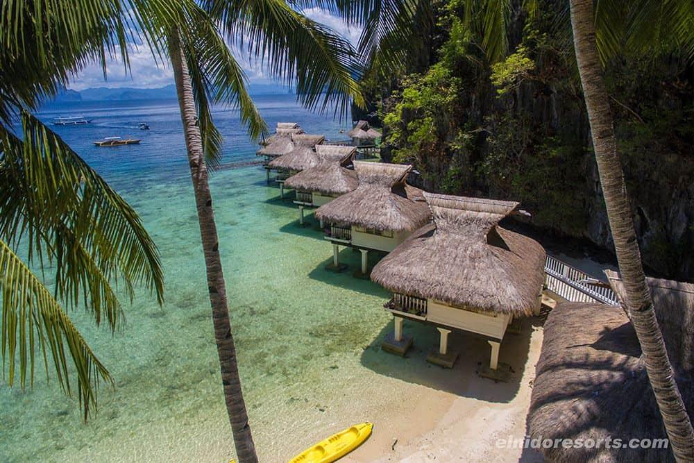cabañas sobre el agua El Nido Resorts Miniloc Island