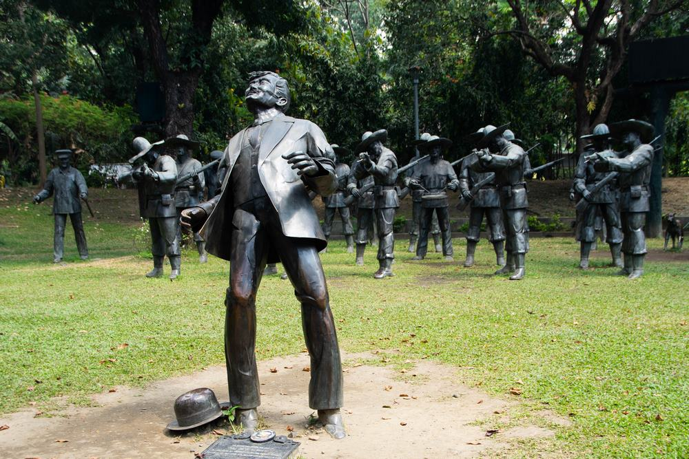fusilamiento de José Rizal en el Parque Rizal