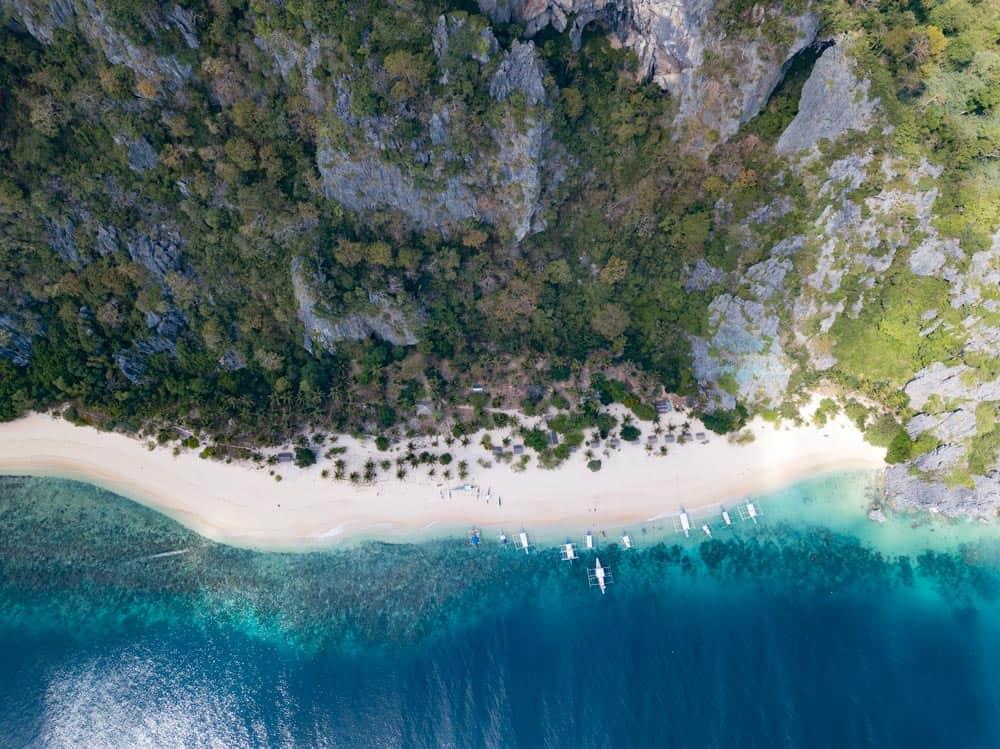 playa principal de Black Island