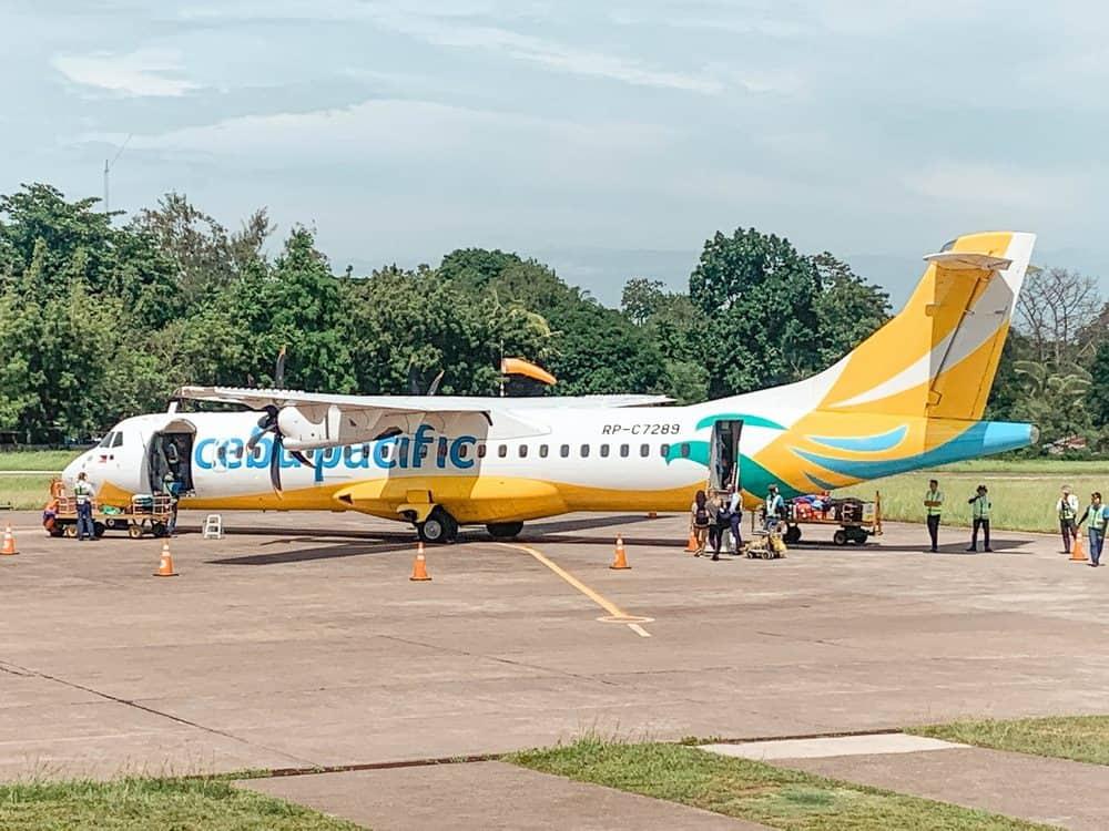 avión aeropuerto de Camiguin
