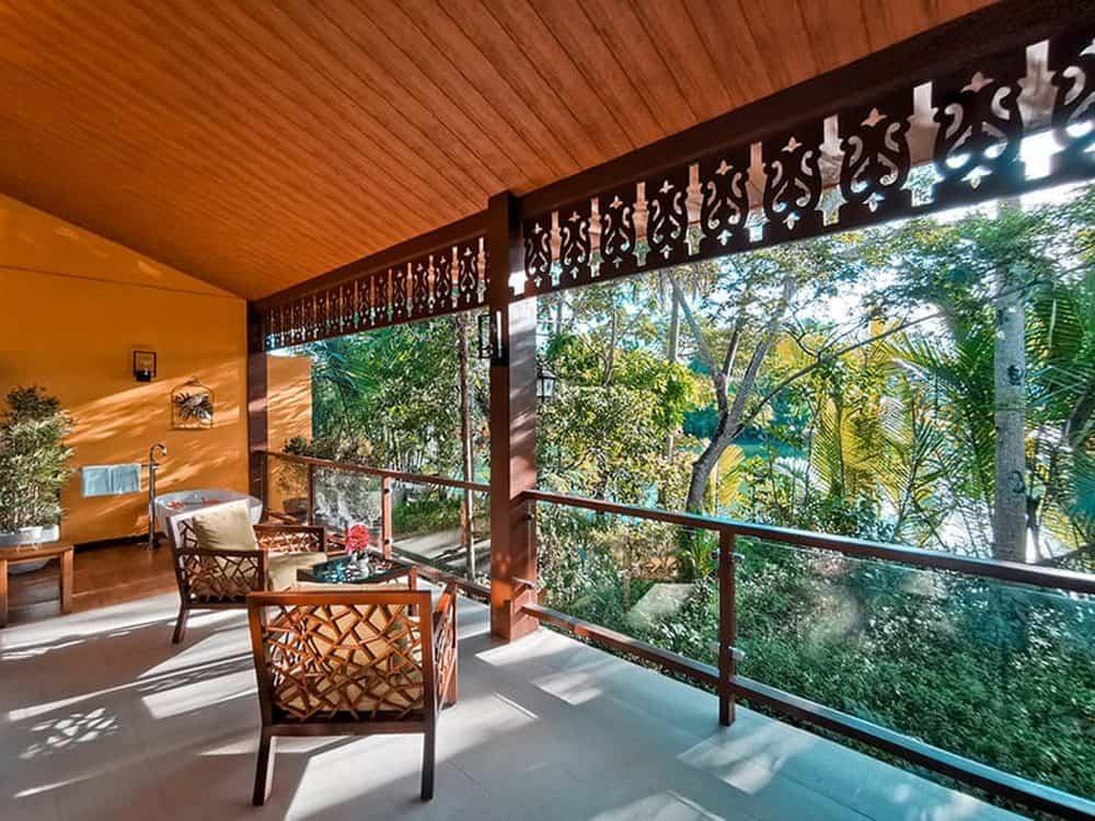 habitación con vistas al río Loboc resort en Bohol