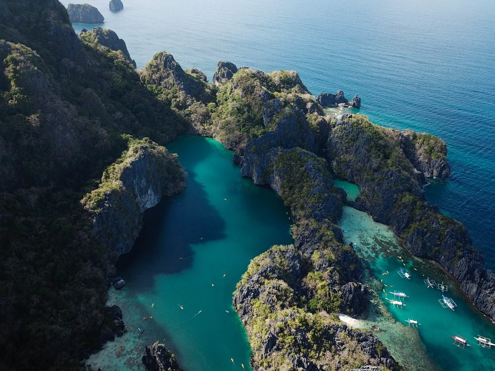 Big Lagoon y Small Lagoon dron El Nido