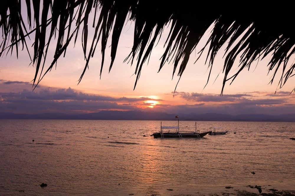 atardecer en Moalboal octubre Filipinas