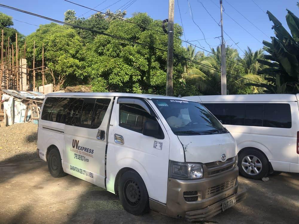 furgonetas de Cebú a Malapascua