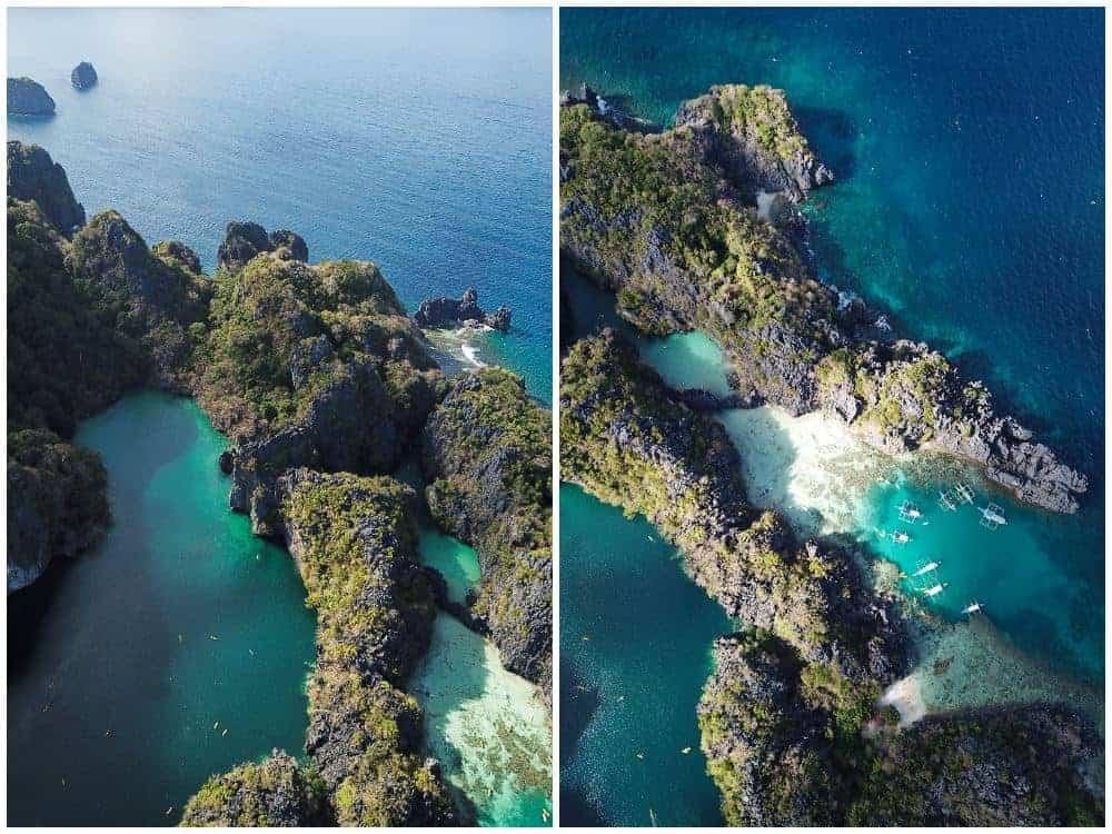 Big y Small Lagoon en El Nido, 18 días viaje Filipinas
