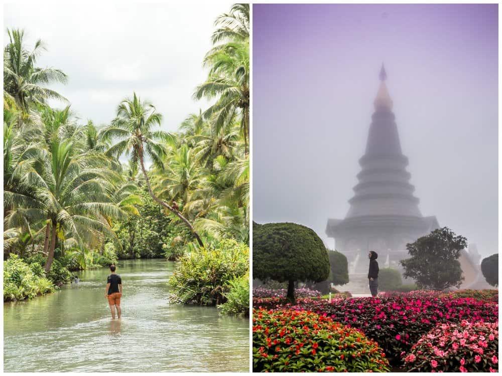 época de lluvias en Tailandia y Filipinas