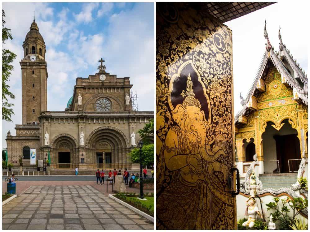 Filipinas o Tailandia: iglesia o templo